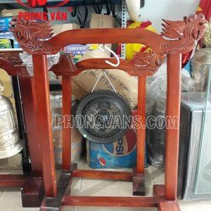 Kệ gỗ treo chiêng chuông