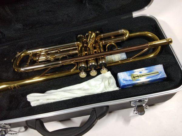 Kèn trumpet 3 màu loa vàng Victoria VTR-568EX