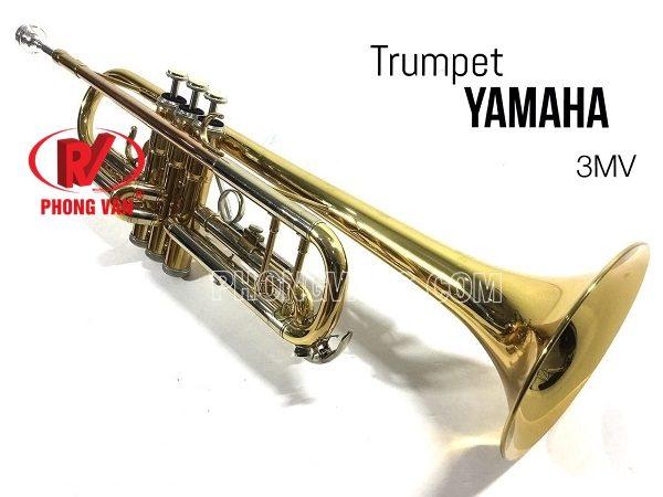 Kèn trumpet Yamaha ba màu loa vàng