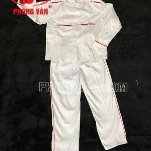Nghi thức đội viên quần dài áo dài vải kaki trắng
