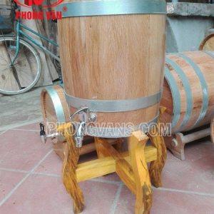 Thùng gỗ sồi 50 lít kiểu đứng