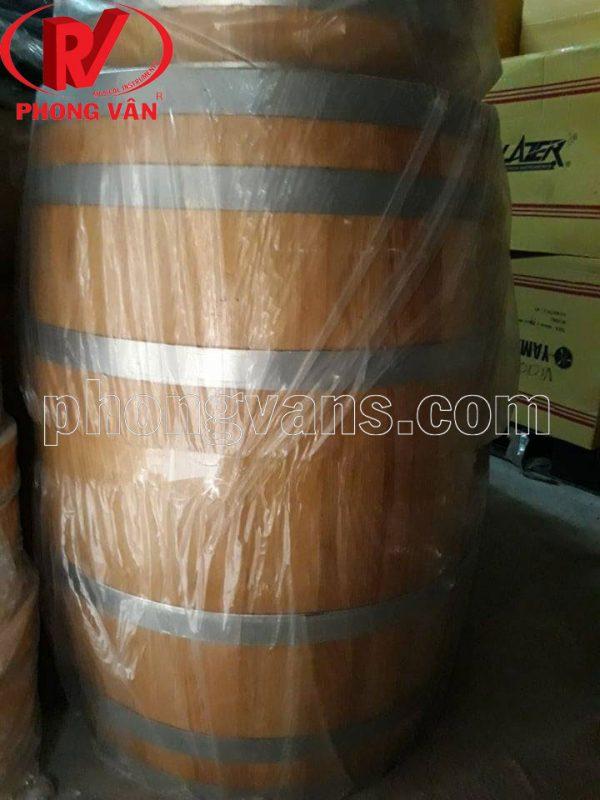 Thùng gỗ sồi ngâm rượu vang 200 lít