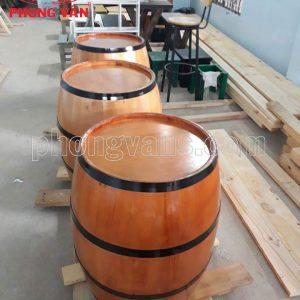 Thùng gỗ thông trưng bày cao 70cm