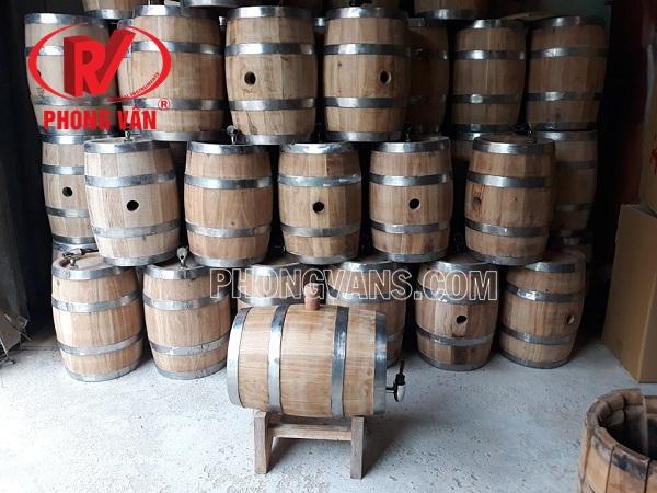 Thùng trống gỗ sồi đựng rượu vang 7 lít