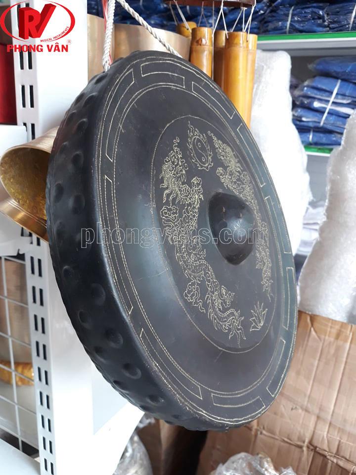 Cồng chiêng đồng 30cm 3 tấc trạm rồng