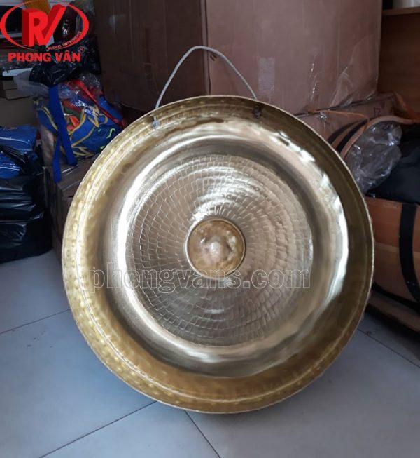 Cồng chiêng đồng 65cm màu vàng