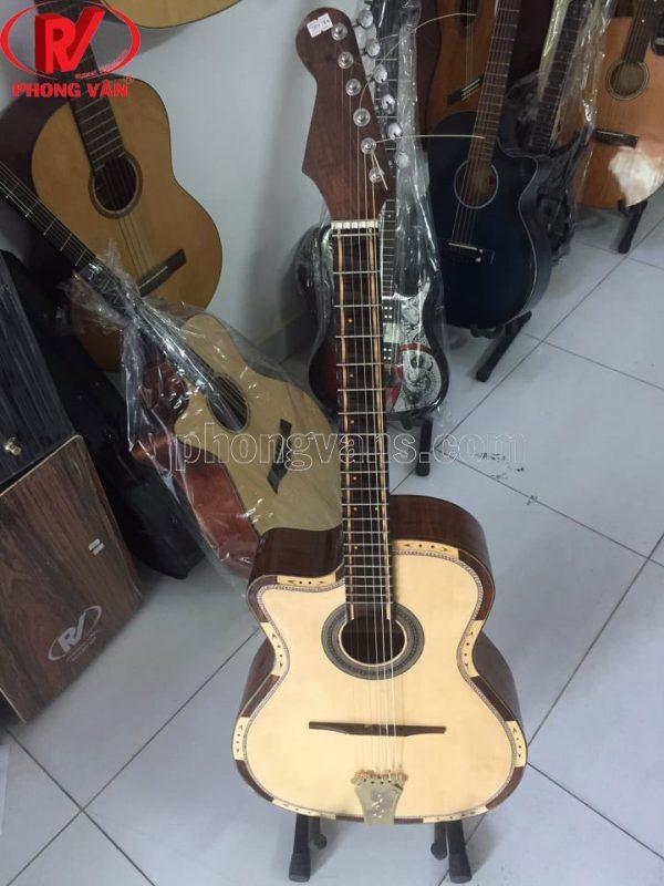 Đàn guitar cổ thùng phím lõm tay trái