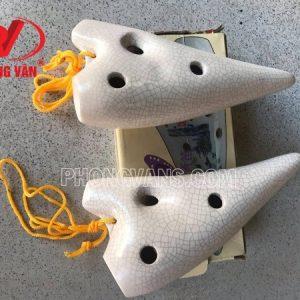 Sáo ocarina 12 lỗ bằng gốm màu trắng