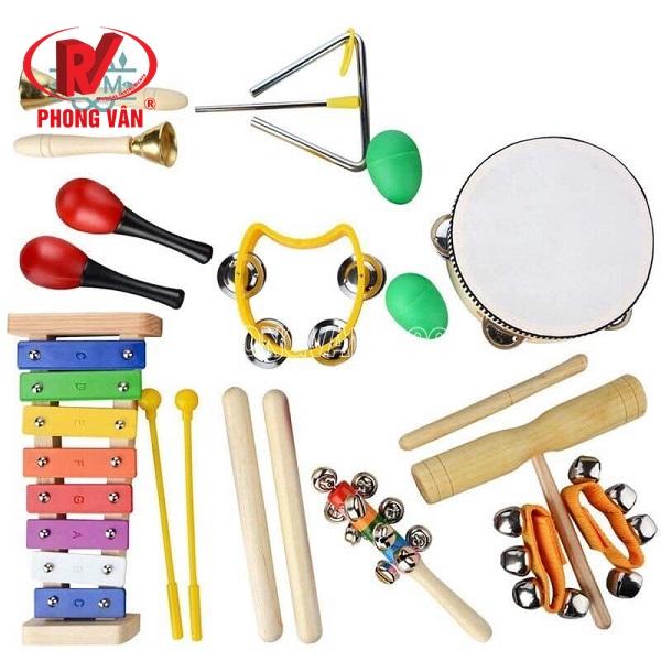 Set đồ chơi nhạc cụ trẻ em 11 món