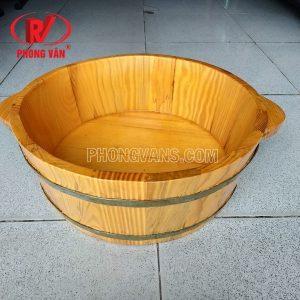 Thau rửa mặt bằng gỗ thông