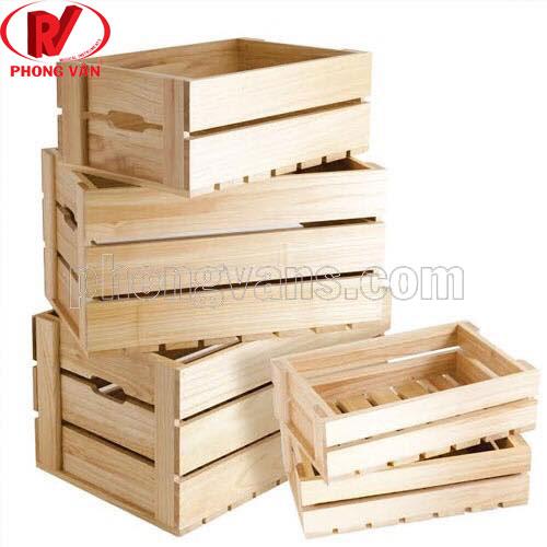 Thùng gỗ đựng đồ