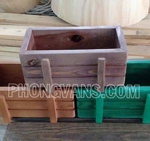 Thùng gỗ pallet mini trang trí trồng hoa