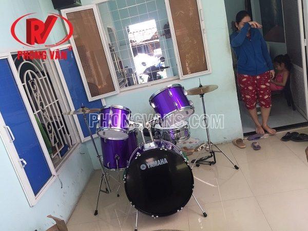 Trống nhạc jazz yamaha màu tím