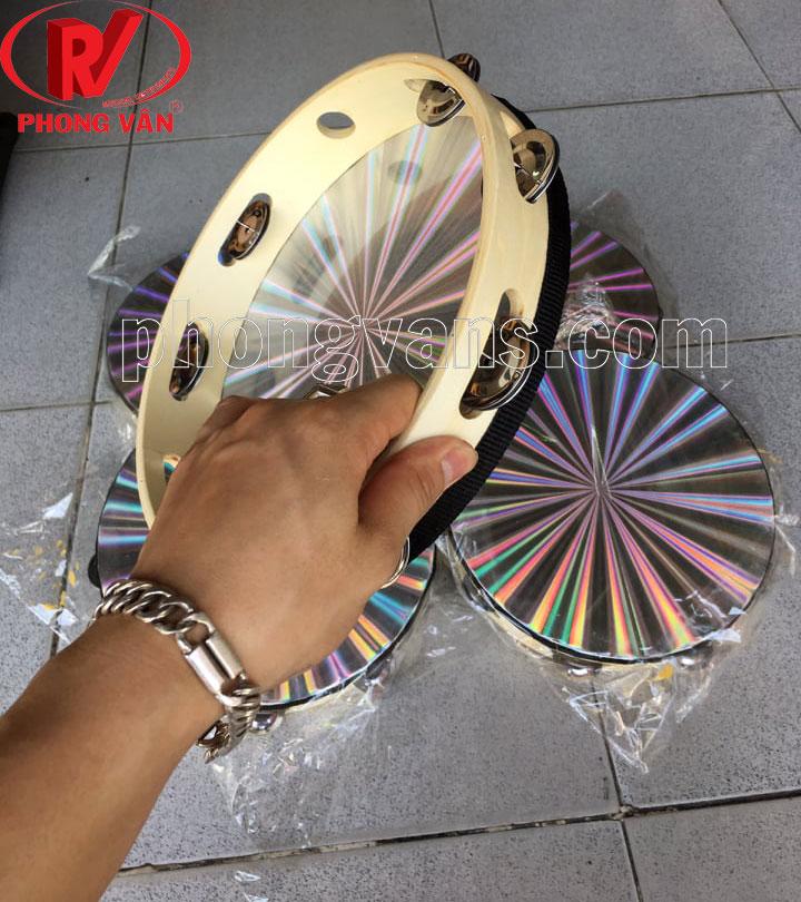 Trống tambourine gõ bo gỗ