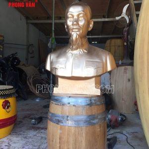 Tượng bán thân Bác Hồ thạch cao 65 cm
