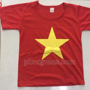 Áo cờ đỏ sao vàng cho trẻ em