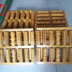 Bàn lăn chân gỗ 12 trục