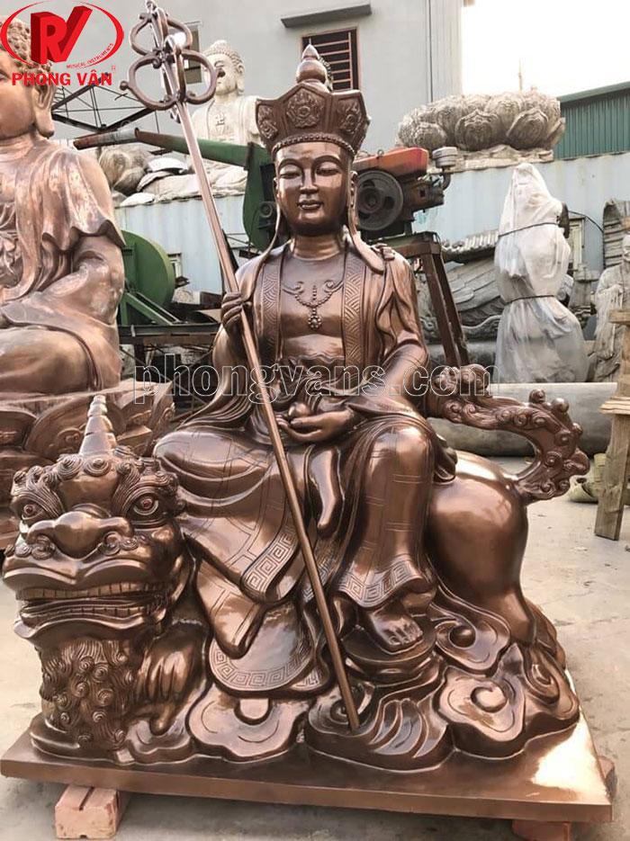 Bán tượng địa tạng vương bồ tát bằng đồng
