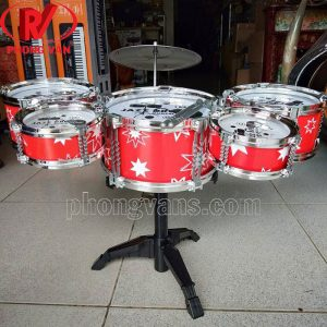 bộ trống jazz drum 6 dụng cụ cho bé