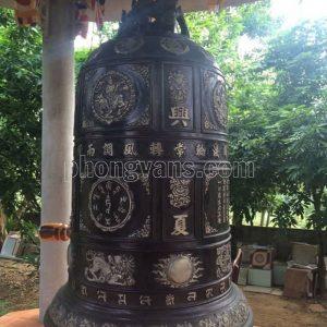 Đúc chuông đồng đen nặng 6 tạ 600 kg