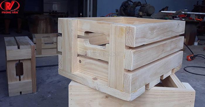 Kệ gỗ thông pallet dài 40 cm
