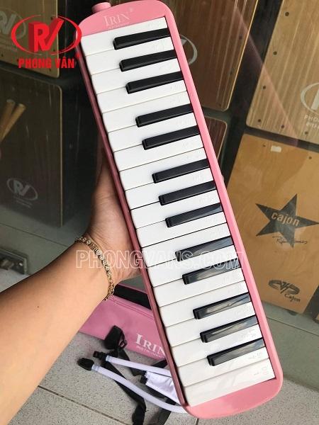 Kèn melodica 32 phím Irin màu hồng