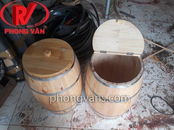 Thùng gạo gỗ thông 30 kg