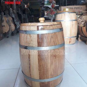 Thùng đựng gạo gỗ sồi 10 kí