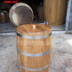 Thùng đựng gạo gỗ sồi 30 kg