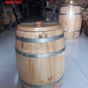 Thùng đựng gạo gỗ thông 10 ký