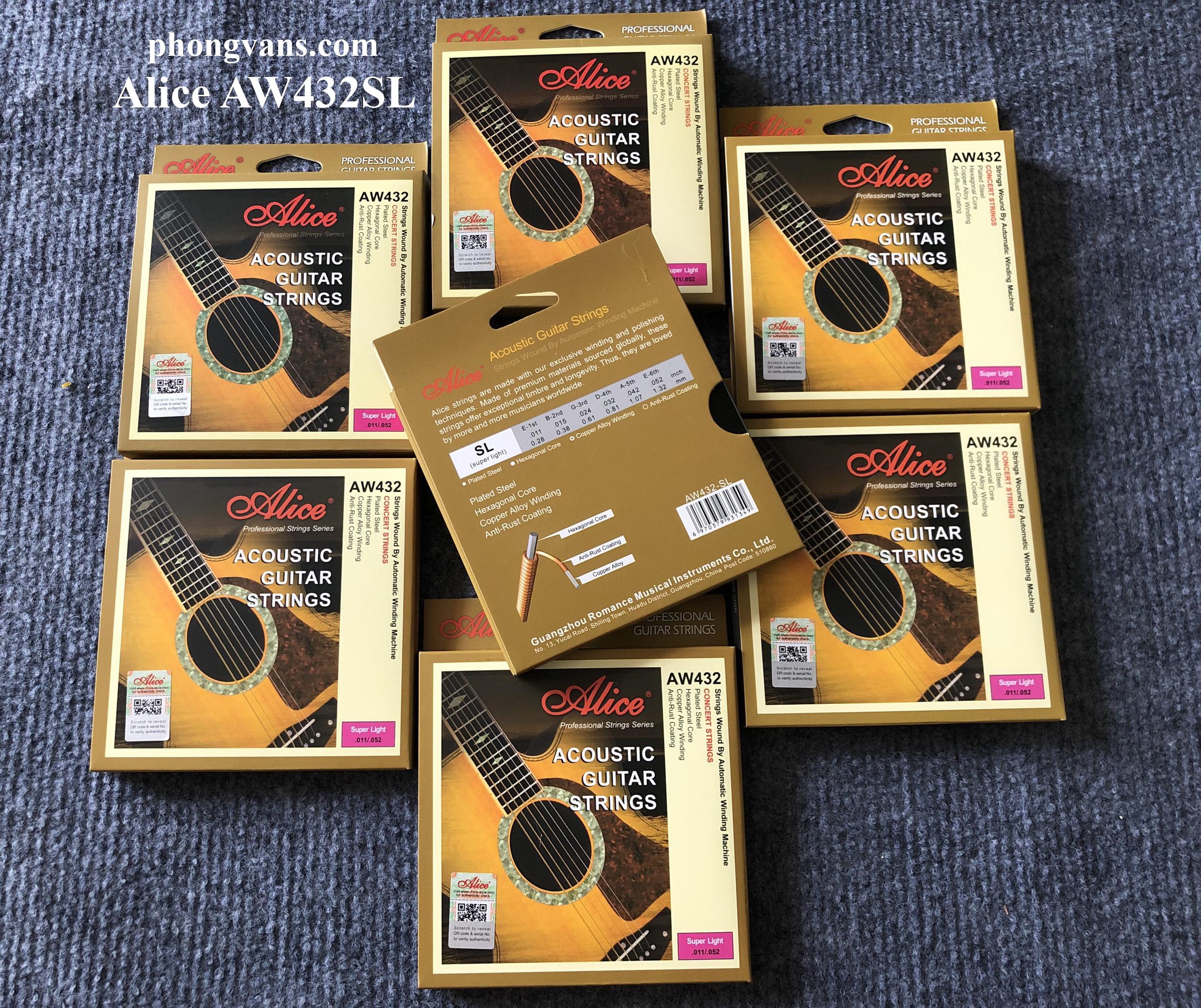 Dây Đàn Guitar Acoustic Alice AW432SL