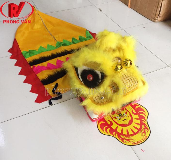 Đồ chơi đầu lân cho bé màu vàng