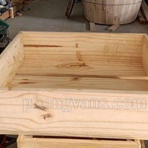 Kệ gỗ để hoa quả