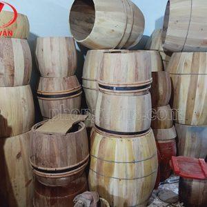 Tang gỗ mít làm trống trường