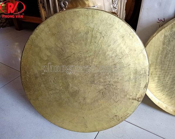 Chiêng lệnh đồng vàng 37cm