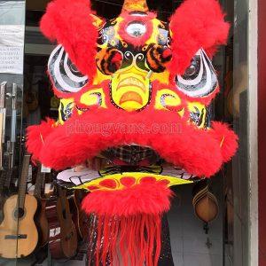 Đầu múa lân mekong màu đỏ lông cừu
