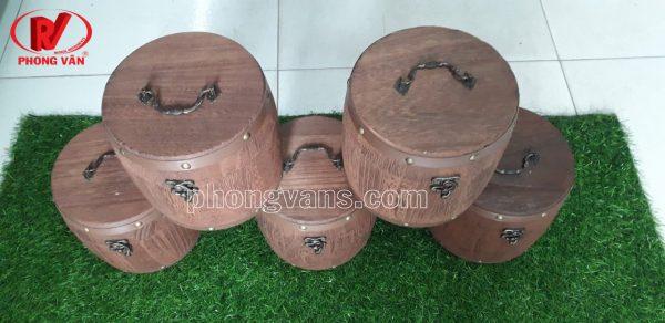 Hộp đựng đồ trang sức gỗ hình tròn