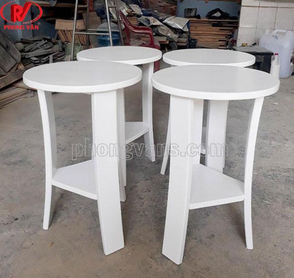Ghế gỗ thông cho cafe bar màu trắng