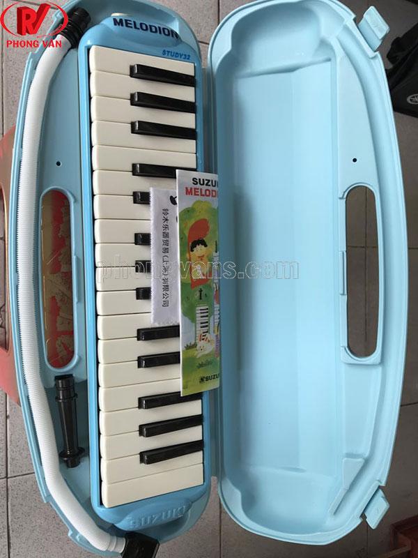 Kèn melodion Suzuki 32 nốt màu xanh