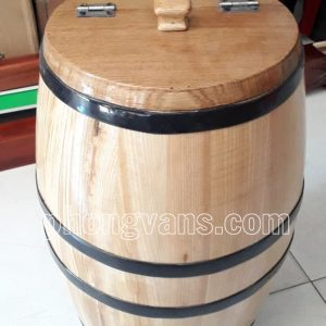 Thùng gỗ sồi đựng gạo 20 kg