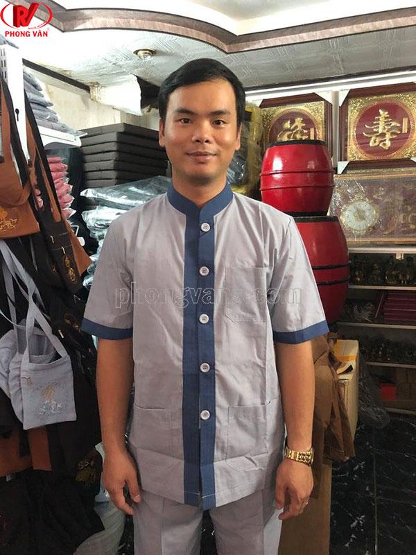 Quần áo phật tử nam tay ngắn
