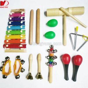 Bộ nhạc cụ trẻ em mẫu giáo 13 món