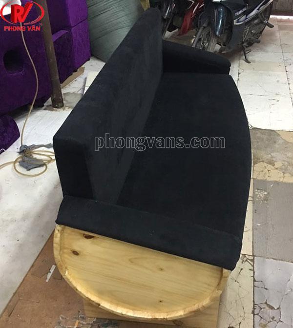 Ghế bằng thùng trống gỗ bọc nệm sofa dài 170cm