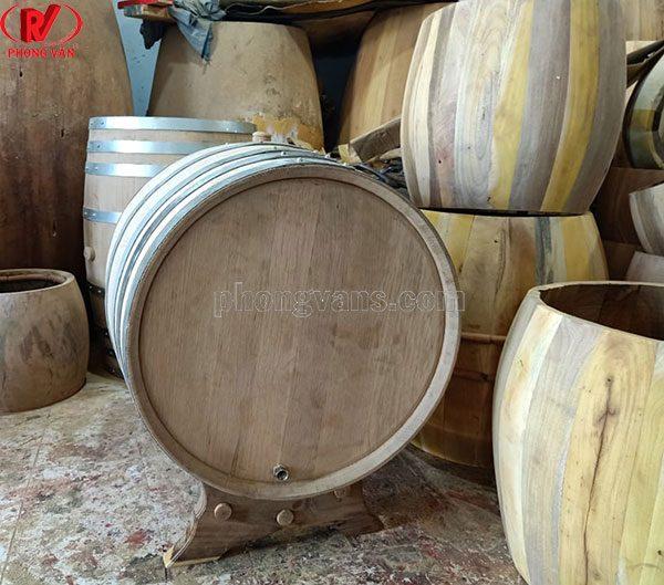 Thùng gỗ sồi 300 lít để mộc