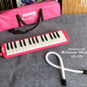 Kèn melodion Victoria 32 phím màu hồng