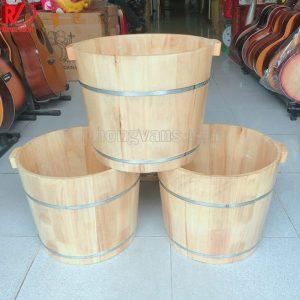 Chậu ngâm chân gỗ thông cao 30cm