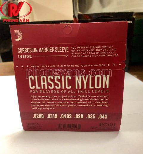 Dây đàn D'Addario classic nylon EJ45 EJ46 EJ48 EJ49 EJ27N