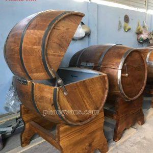 Thùng gỗ đựng nước đá 200 lít