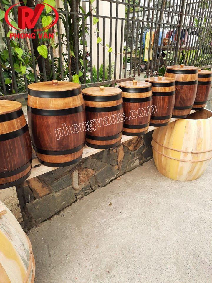 Bán sỉ thùng gỗ đựng gạo