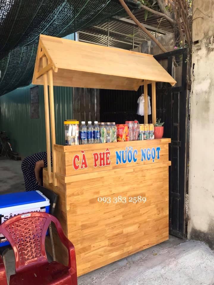 Đóng quầy gỗ bán cafe trà sữa